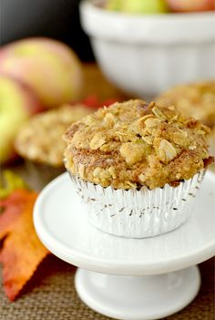 Apple Crisp Muffins are fluffy and sweet muffins topped with that signature apple-crisp topping. Perfectly portion-controlled, too!   iowagirleats.com