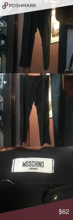 Moschino Jeans black lightweight jeans/pants Moschino Jeans RARE black, lightweight, viscose blend, jeans/pants. Super soft and thin, relaxed fit, perfect for spring. Vintage Moschino Jeans