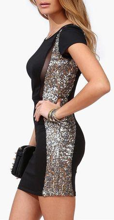 Wavy Lines Dress in Black <3 #lbd