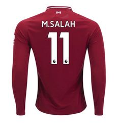 d394c3019bd Mohamed Salah  11 Liverpool Long Sleeve 2018 2019 Home SOCCER Jersey -Red