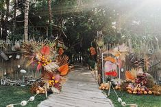 This tropical disco wedding in Canguu, Bali is just what the doctor ordered! An earthy color palette of terra cotta, turmeric, egg shell and peony pink gives life to the nuanced design elements of this 3-Day destination wedding from the abstract Matisse inspired welcome signage and triangular ceremony backdrop to the pampas grass and palm filled floral designs and the rattan chandeliers over the al fresco dinner. We cannot get enough of their unique love story too! Star-crossed lovers from… Floral Backdrop, Floral Garland, Backdrop Ideas, Backdrops, Bali Wedding, Destination Wedding, Wedding Ceremony, Wedding Ideas, Canguu Bali