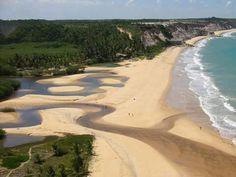 Praia rio da barra. Entre Arraial e Trancoso na Bahia