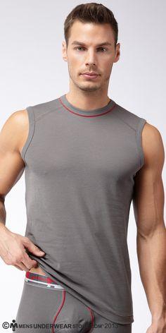 Eric Allen for Men's Underwear Store (2013) #EricAllen #EricRichAllen #malemodel #model #malesupermodel #supermodel #MC2Models #FordModels_Chi #KimDawsonModels #MensUnderwearStore #underwear #undershirt #CIN2 #muscleshirt #grey #gray