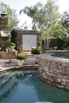 backyard/stone shed