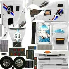 Skins Peterbilt 359, Peterbilt Trucks, Lifted Chevy Trucks, Volvo Trucks, Custom Big Rigs, Custom Trucks, Transformers Coloring Pages, Paper Model Car, Truck Simulator
