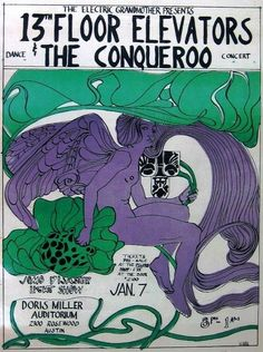 Poster for two great Texas bands of the Sixties