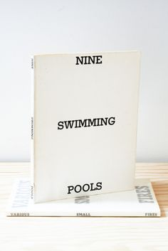 Ed Ruscha, Nine Swimming Pools, 1968 Graphic Design Books, Graphic Design Typography, Book Design, Pop Art Movement, Message In A Bottle, Print Layout, Black And White Abstract, Communication Design, Thing 1