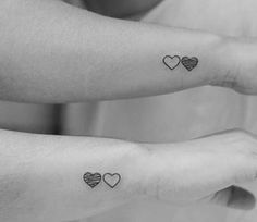 Can you think of any better way to show this bond to the outside world than getting inked matching sister tattoo designs on your skin? Tattoos are a Bff Tattoos, Twin Tattoos, Best Friend Tattoos, Trendy Tattoos, Sleeve Tattoos, Fake Tattoos, Tatoos, Temporary Tattoos, Brown Tattoos