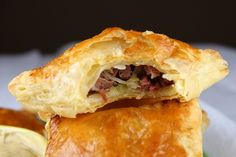 These quick and easy puff pastry turnovers are the perfect choice for using up your leftover corned beef and cabbage. Photograph included.