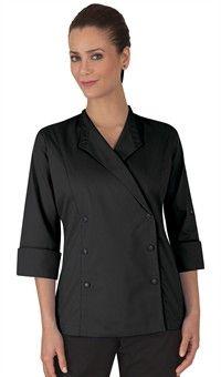 Women's Lapel Collar Chef Coat