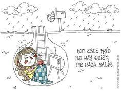 """B1 - Oraciones relativas: Utilizamos el Subjuntivo cuando negamos el antecedente (""""no hay quien"""", """"no hay nadie que"""", """"no hay nada que"""", """"no hay ningúna persona que"""", etc.). Ilustración de Vero Rodríguez."""