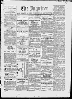 THREE RIVERS 1857 1858 1860 1861 1862 1863 The Inquirer - Google News Archive Search