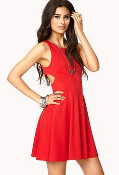 Eye-Catching Cutout Skater Dress | FOREVER21 - 2000128559
