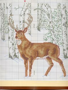 Gallery.ru / Photo # 181 - 138 Cross Stitch - joobee---PG 5 OF 5---STATLEY DEER