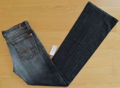 """7 Seven for all Mankind Jeans 28 Bootcut New York Dark NYD low Denim Stretch 33"""""""