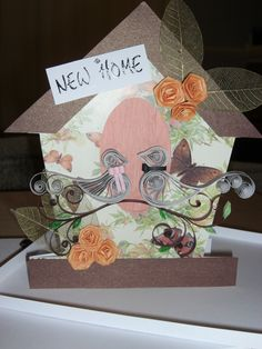 Quilled Birds New home card