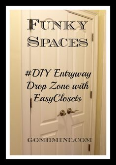 For when you've finally had it with that place in your house that simply just won't work! #DIY Entryway Organizing Ideas with @EasyClosets