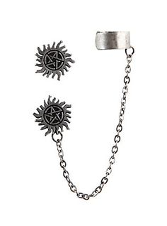 This is perfect for me Supernatural Anti-Possession Symbol Cuff Earrings,