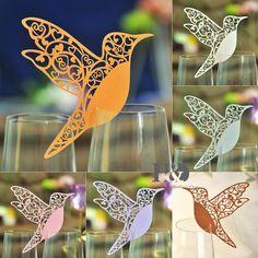 Humming Paperboard Bird Laser Cut Glass Place Name Card Wedding Invitation Favor | eBay