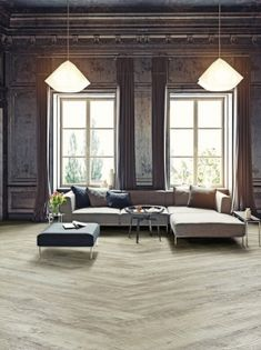 Castle Oak 55236 - Wood Effect Luxury Vinyl Flooring - Moduleo