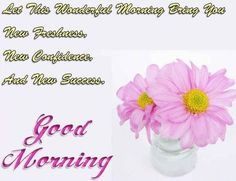 Good morning poem with flowers