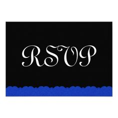 This DealsRoyal Blue and Black  Lace RSVP Wedding Response Personalized Invitationsin each seller & make purchase online for cheap. Choose the best price and best promotion as you thing Secure Checkout you can trust Buy best