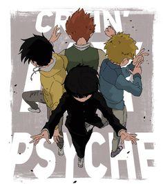 Psycho 100, Mob Psycho, Anime Manga, Anime Art, Mob Physco 100, Otaku, Kageyama, Manga Games, Friends