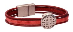 2mm Round Leather Cord - Wine