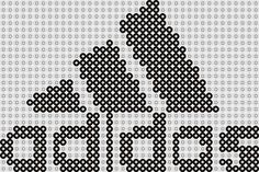 Plantilla Hama Adidas (Logos) Www. Small Cross Stitch, Cross Stitch Borders, Cross Stitch Designs, Cross Stitch Patterns, Knitting Patterns Boys, Knitting Charts, Adidas Logos, Diy Crafts Knitting, All Free Crochet