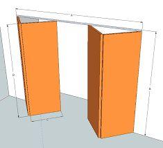 Detalle de la gu a de la puerta plegable puertas - Puertas de acordeon ...