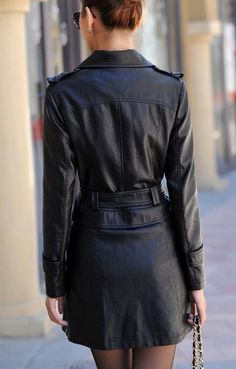Aliexpress.com  Comprar Moda Leather jacket women abrigo largo de cuero  nuevo 2016 invierno b20c3bba053e