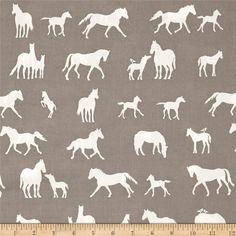 Brand New Horse Print Fabric