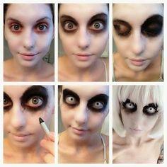 Maquillaje fácil y bonito para halloween