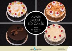Avari Special Eid Cakes available now! Eid Cakes, Hotel Offers, Cheesecake, Muffin, Breakfast, Desserts, Food, Morning Coffee, Muffins