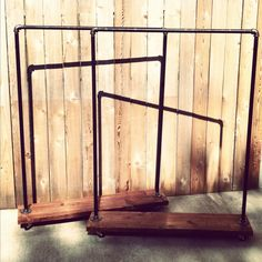 Industrial Garment Rack Made to Order par TylerKingstonWoodCo
