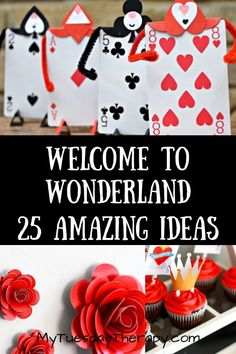 Queen of Hearts. Host a Magical Tea Party With Alice and Mad Hatter. Play fun birthday party games and enjoy delicious tea party food surrounded by amazing Alice In Wonderland party decorations. Alice In Wonderland Crafts, Alice In Wonderland Tea Party Birthday, Alice In Wonderland Decorations, Alice Tea Party, Mad Tea Parties, Winter Wonderland, Tea Party Games, Birthday Party Games, Birthday Ideas