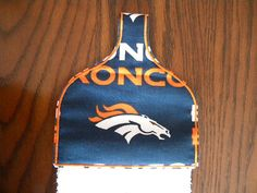 Hand Crafted NFL Denver Broncos Towel Topper with by HikerJohnson, $12.00