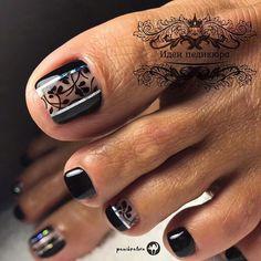Toenail Art Designs, Pedicure Designs, Pedicure Nail Art, Toe Nail Designs, Nail Polish Designs, Gel Polish, Polygel Nails, Feet Nails, Diy Nails