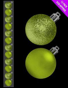 lime green Christmas decoration