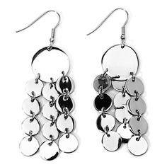Sterling Silver Diamond-Shaped Chandelier Earrings at HSN.com ...
