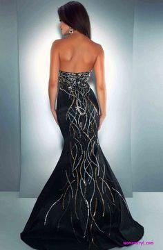 long Black Prom dresses   2013