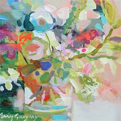 Secret Garden 3 by Erin Gregory abstract painting canvas, painting christmas canvas, funny canvas Easy Flower Painting, Flower Art, Erin Gregory, Watercolor Paintings, Floral Paintings, Painting Canvas, Paintings I Love, Abstract Flowers, Painting Inspiration