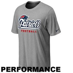Nike New England Patriots Authentic Football Font Performance T-Shirt - Ash 220d36775