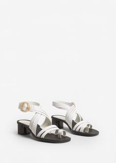 Leather strap sandals -  Woman | MANGO Finland