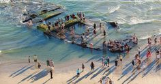 Wreck of notorious gambling and prostitution ship lost at sea in 1936 is revealed by violent El Nino storms