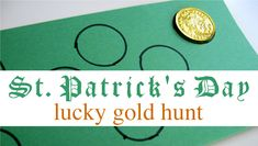 find and count your St. Patrick's Day Gold #ECE