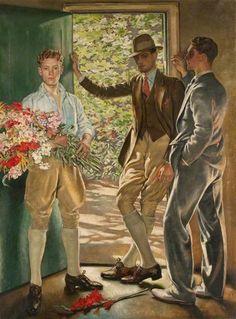 1926- 'The garden door.' by William Bruce Ellis Ranken.