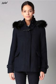 Veste laine fourree femme