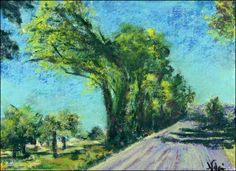 How to Use Wet Pastel Sticks to Create a Textured, Impressionist Pastel Painting