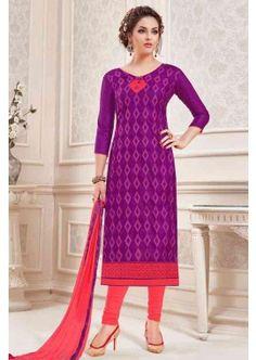 couleur pourpre soie bhagalpuri costume churidar, -  54,00 €  #Salwarkameezfemme  #Salwarkameezmariage  #Robeindienne  #Shopkund